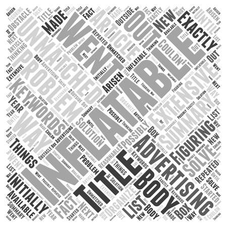 extensive: Unmatched Advertising With Inflatables word cloud concept