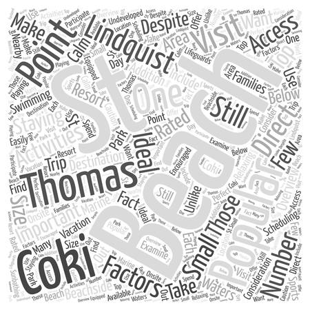 Top Rated St Thomas Beaches word cloud concept