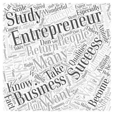 successful entrepreneur word cloud concept