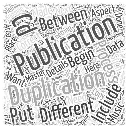 publication: the difference between duplication and publication word cloud concept