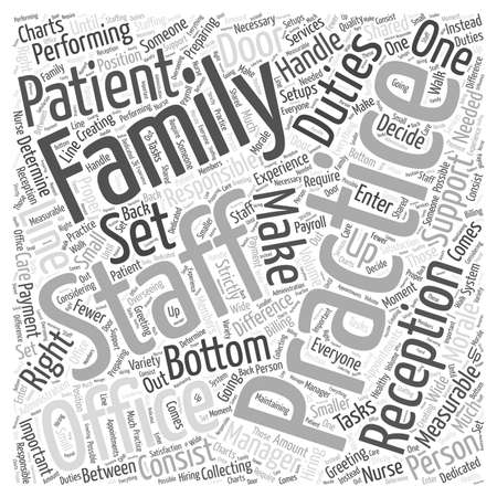 should: Support Staff for Family Practice word cloud concept