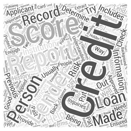 understanding credit report score word cloud concept