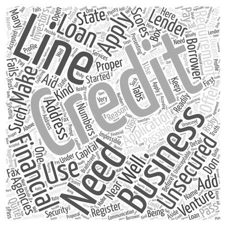 Unsecured Business Line of Credit word cloud concept