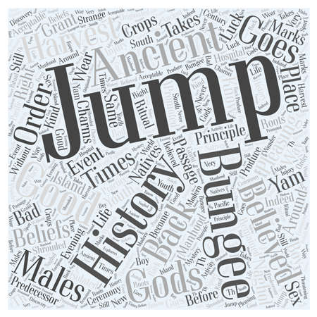 The History of Bungee Jumping word cloud concept