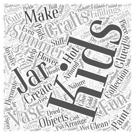 summer crafts for kids word cloud concept