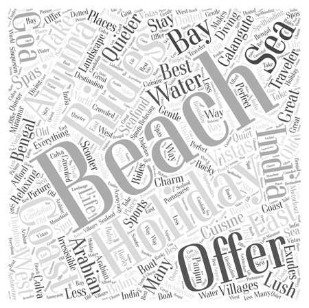 Neem een strandvakantie woord wolk concept