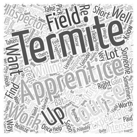 El aprendiz de termitas concepto de nube de palabras Foto de archivo - 67671014