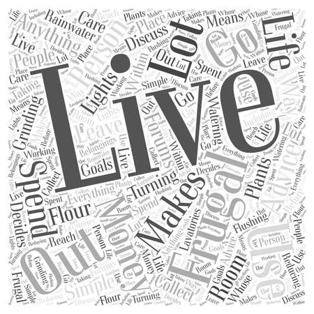 There is a lot of advice out there on how to live a frugal life word cloud concept