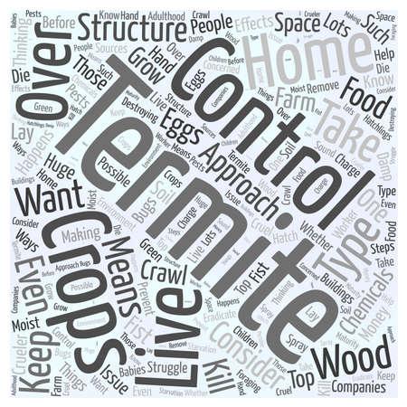 Control de termitas concepto de nube de palabras Foto de archivo - 67671031