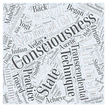 transcendental: transcendental meditation word cloud concept Illustration