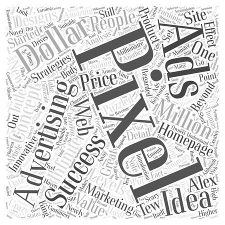 The Marketing Concept of Pixel Ads word cloud concept 일러스트