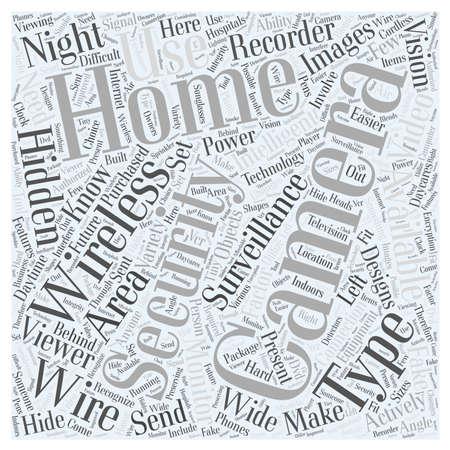 Types of Home Security Cameras word cloud concept