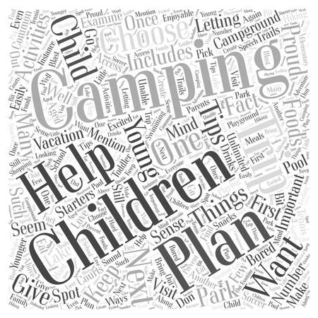 Tips for Planning a Camping Trip with Young Children word cloud concept