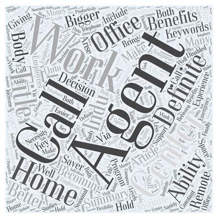 De definitie van een Work At Home Call Center Agent woord wolk concept