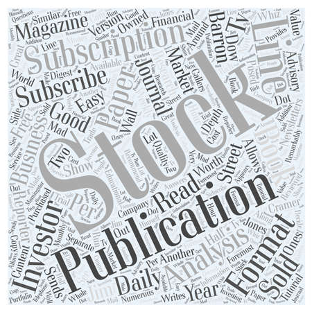 investor: Subscribe to Stock Publication word cloud concept