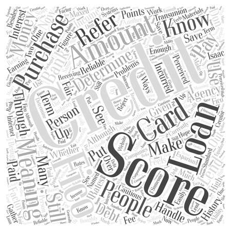 The meaning of a credit score word cloud concept