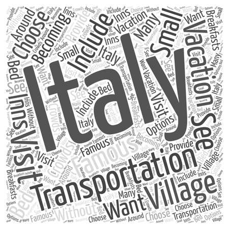 Transportation for Your Italian Vacation word cloud concept