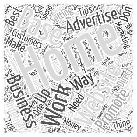 Conseils pour un mot, nuage, concept Home Base d'affaires
