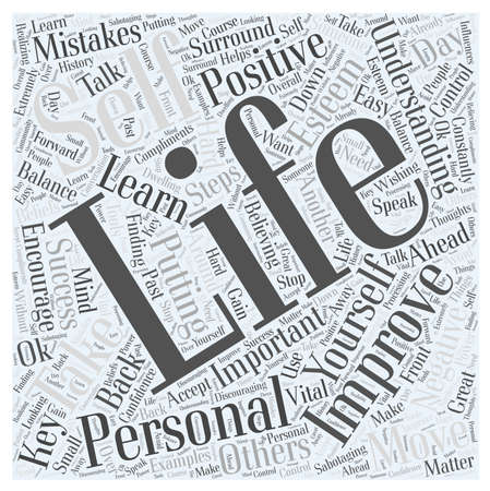 Understanding How to Improve your Personal Life word cloud concept