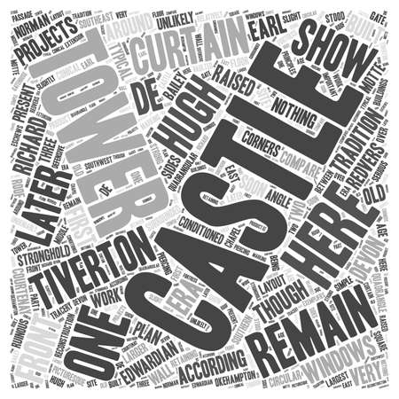 edwardian: Tiverton Castle word cloud concept