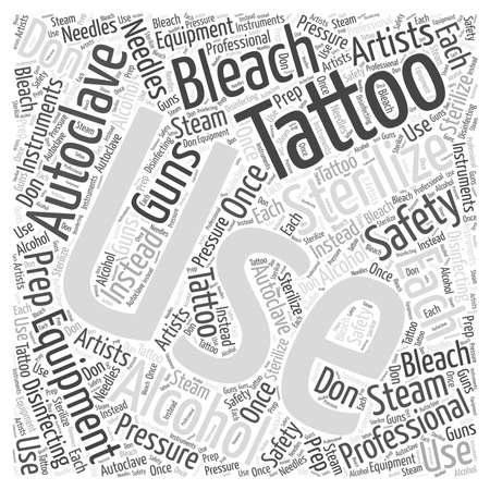 タトゥー安全単語クラウド コンセプト