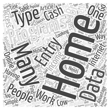 br: Typing Simple Data Entry For Cash word cloud concept Illustration