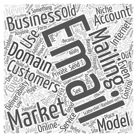 private domain: Take Control of the Email Deliverability Problem word cloud concept