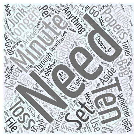 toss: Ten in Ten word cloud concept Illustration