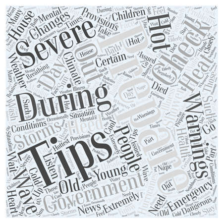 tips for climate change emergency preparation word cloud concept