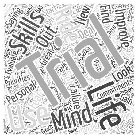 Using the Mind to Improve Your Personal Life word cloud concept Illusztráció