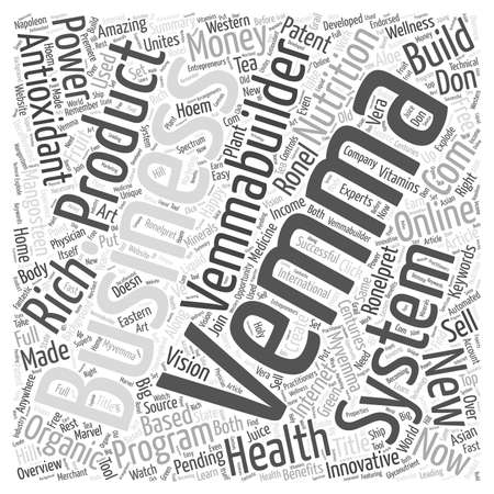 Vemma Products word cloud concept