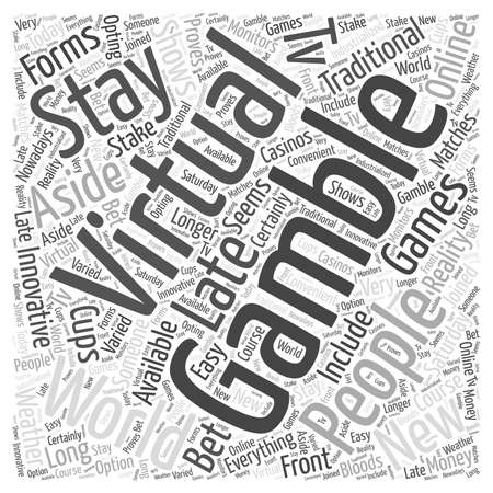 virtual gambling word cloud concept Ilustração