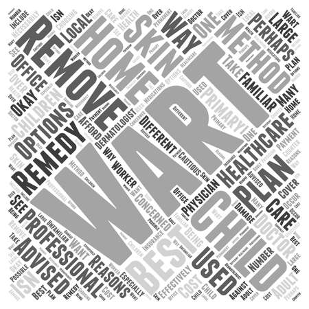 wart: Wart Removal for Children word cloud concept