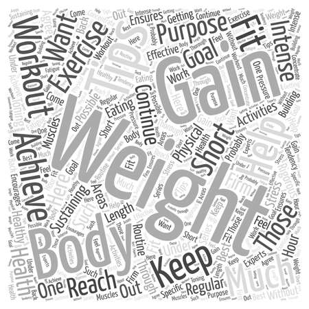 weight gain tips word cloud concept
