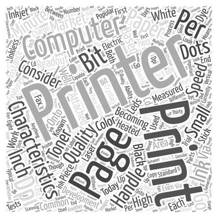 What Computer Printer Characteristics Should Be Considered word cloud concept