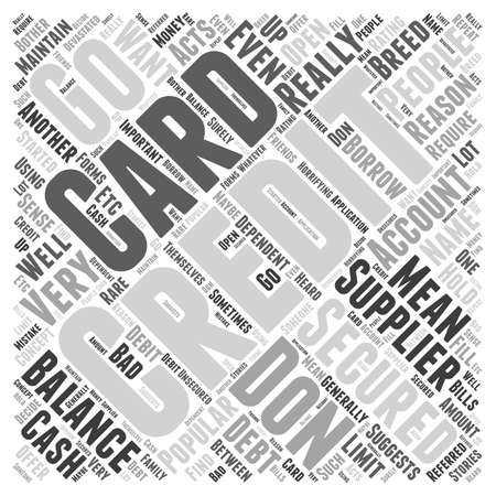 What Do You Mean By A Secured Credit Card word cloud concept Ilustração