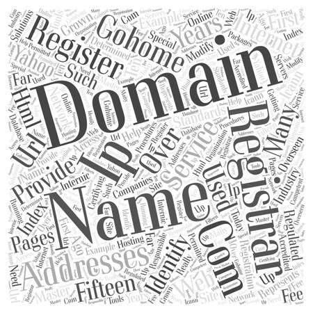 What Is A Domain Name word cloud concept