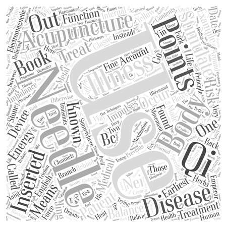 qi: What is Acupuncture word cloud concept Illustration