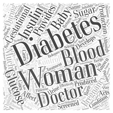 What is Gestational Diabetes word cloud concept