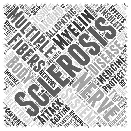 Wat is Multiple Sclerose word cloud concept Stockfoto - 67671273