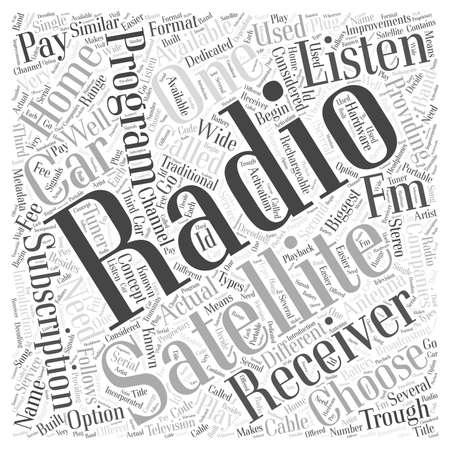 trough: What is satellite radio word cloud concept Illustration