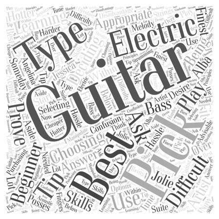 what is the best type of guitar to learn on word cloud concept Illustration