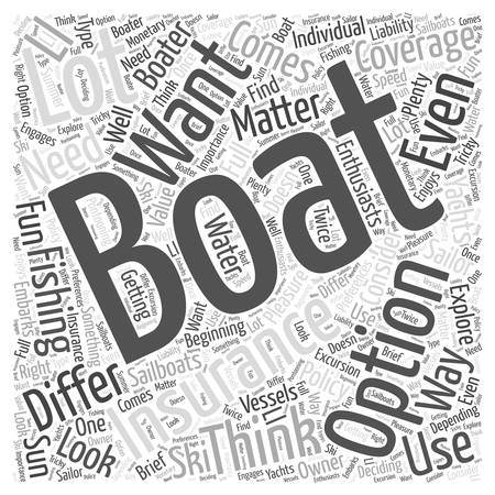 What to look for in a boating insurance policy word cloud concept