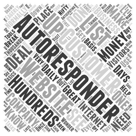 What You Need To Know About Autoresponders word cloud concept