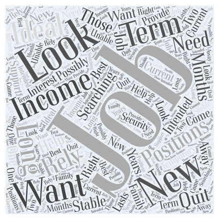unable: What You Should Look for In a New Job word cloud concept