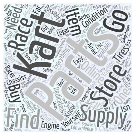 Where To Buy Go Kart Racing Supplies word cloud concept
