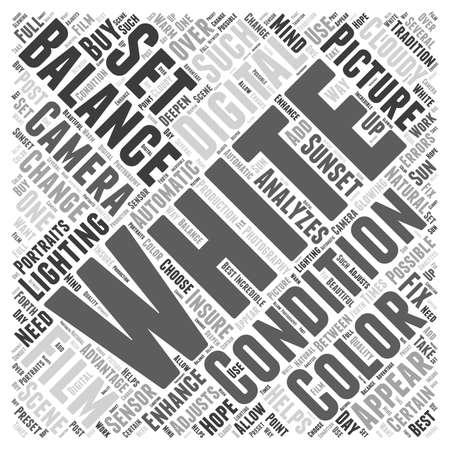 White Balance word cloud concept Ilustração