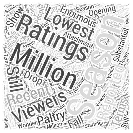 Why American Idols Ratings are Plunging word cloud concept