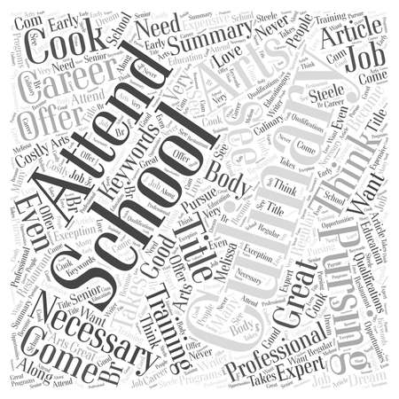 attending: Why Attend Culinary School word cloud concept