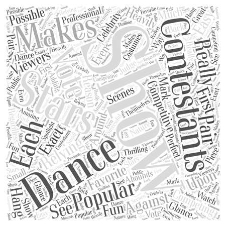 Why Dancing with the Stars is so Popular word cloud concept